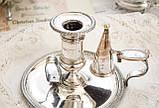 Посеребренный подсвечник с гасником, серебрение по меди, винтаж, Англия, фото 7
