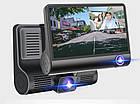 Автомобильный видеорегистратор на 3 камеры Recorder 4 Full HD обзор 170° ночное видения, авто регистратор, фото 9