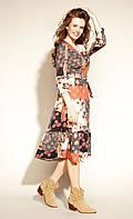 Zaps осінь-зима 2021. Плаття Dula 057 кориця, жіноче плаття міді вільного крою с поясом