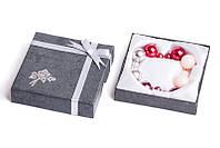 Набор серьги шары Dior цвет красный, бордовый, серебряный металлик, персиковый глянцевый/набор