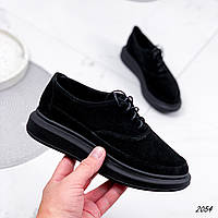Туфли женские Gert черные 2054 замша