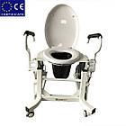 Кресло для туалета c подъемным устройством и подставным судном LWY-002., фото 2