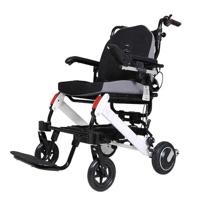 Легкая складная электроколяска для инвалидовЛегкая складная электроколяска для инвалидов MIRID D6033
