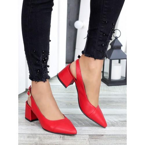 Туфли красная натуральная кожа