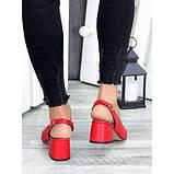 Туфли красная натуральная кожа, фото 3