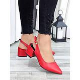 Туфли красная натуральная кожа, фото 2