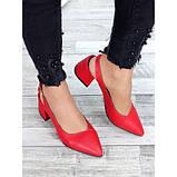 Туфли красная натуральная кожа, фото 4