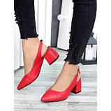 Туфли красная натуральная кожа, фото 5