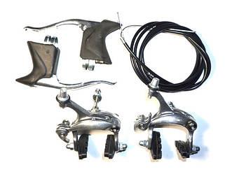 Набор шоссейных тормозов Shungfeng из 2-х тормозных ручек, 2-х крабов (рич 40-50 мм), набора тросов и рубашек