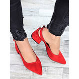 Туфли красная натуральная замша, фото 2