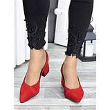 Туфлі червона натуральна замша, фото 3