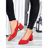 Туфли красная натуральная замша, фото 5