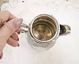 Старый посеребренный молочник, кувшинчик, серебрение, мельхиор, Англия, Walker & Hall  Sheffield, фото 3