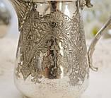 Старый посеребренный молочник, кувшинчик, серебрение, мельхиор, Англия, Walker & Hall  Sheffield, фото 5