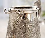 Старый посеребренный молочник, кувшинчик, серебрение, мельхиор, Англия, Walker & Hall  Sheffield, фото 6
