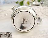 Старый посеребренный молочник, кувшинчик, серебрение, мельхиор, Англия, Walker & Hall  Sheffield, фото 8