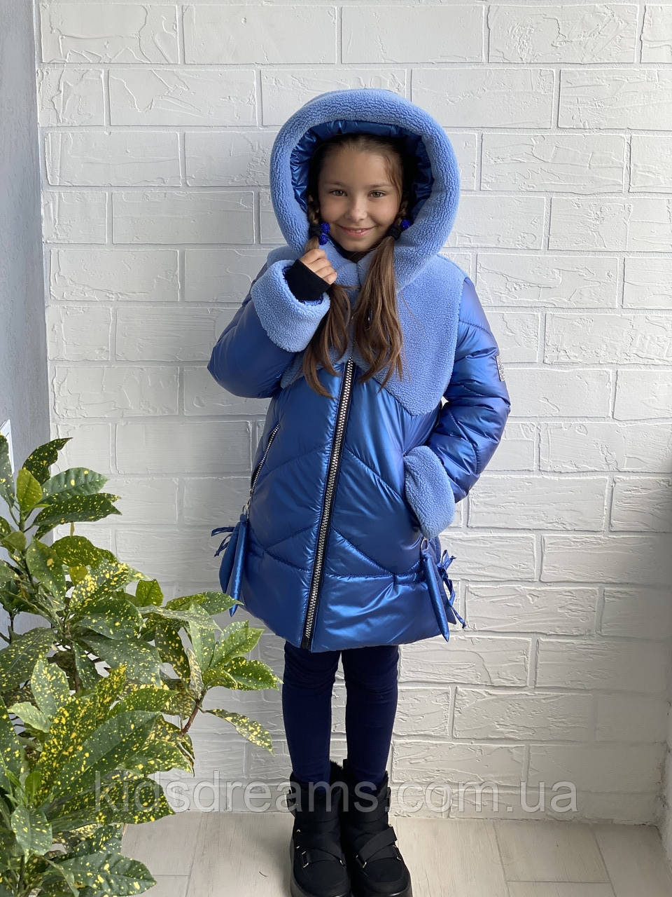 "Пальто для девочки""Снежка""зима  34-42р"