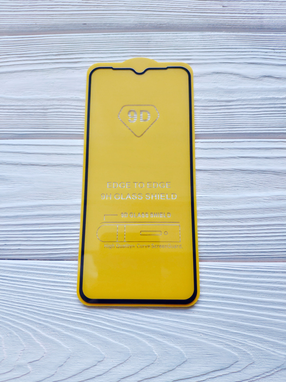 Захисне скло 9D для Xiaomi Redmi 9 Full Glue Чорне
