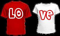 "Парные футболки ""LOVE"""