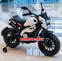 Детский электромотоцикл Harley Davidson на аккумуляторе с мягкими EVA колесами M 4267 белый для детей 3-8лет