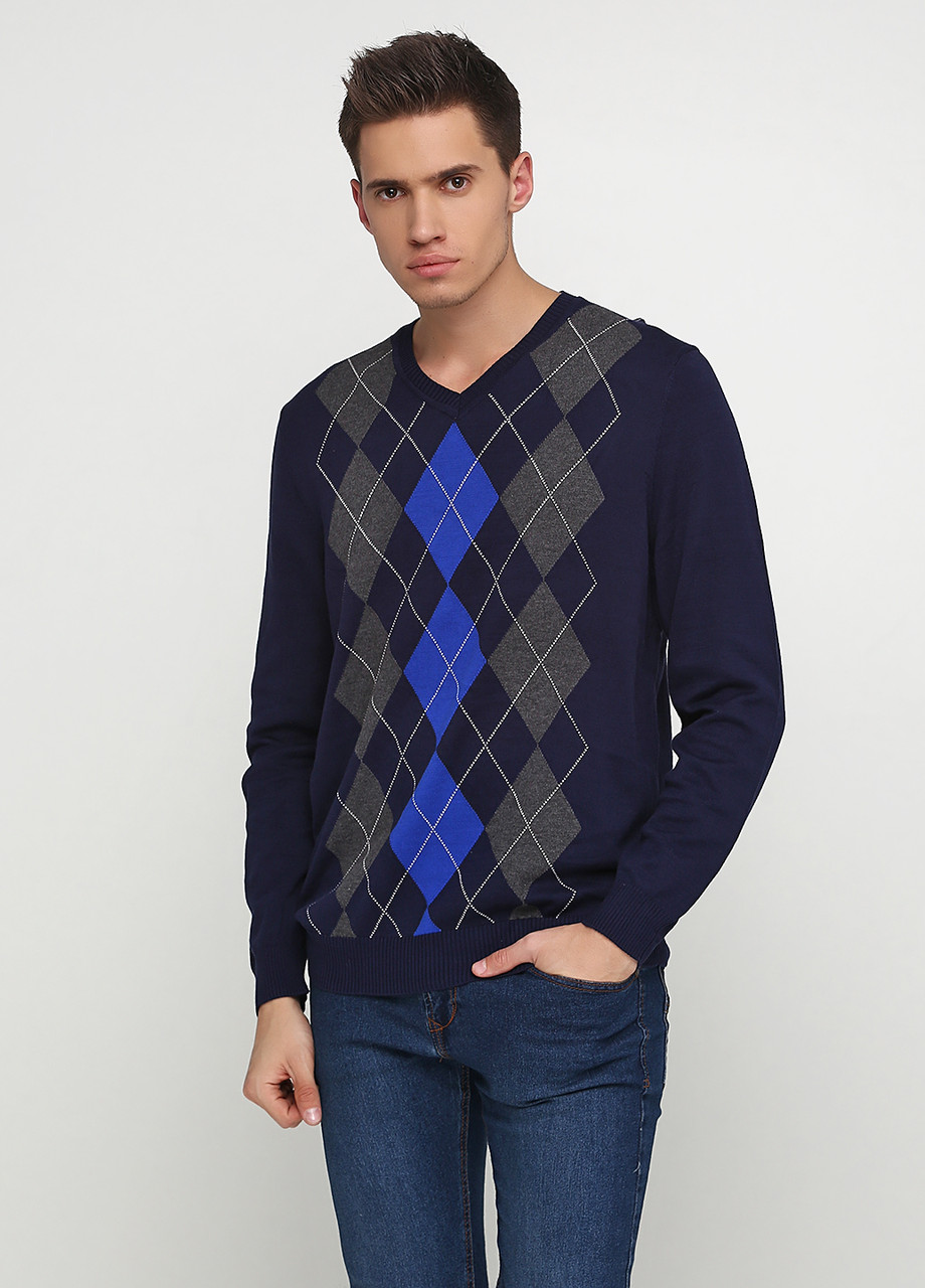 Мужской пуловер Miss Moda темно-синий,L