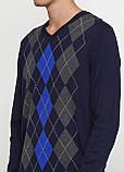 Мужской пуловер Miss Moda темно-синий,L, фото 3
