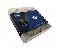 """Цепь велосипедная KMC X9 1/2""""х 3/32""""х114 зв.Gold/Gold, фото 1"""