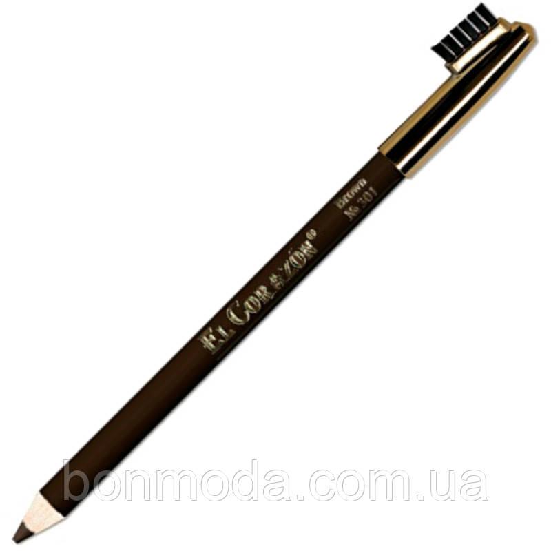 El Corazon водостойкий карандаш для бровей коричневый Brown № 301