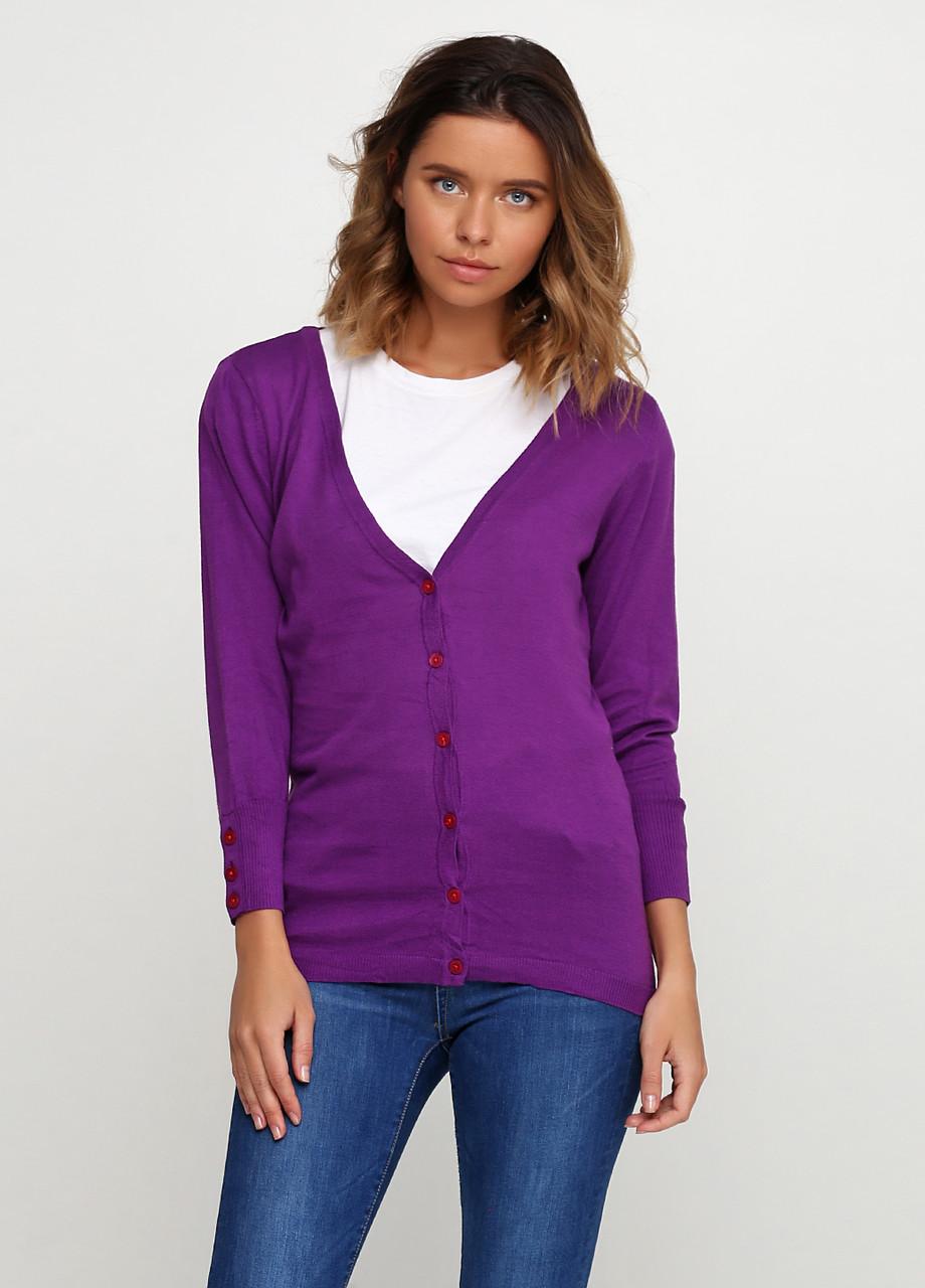 Женская кофта Miss Moda  однотонная фиолетовая,XS
