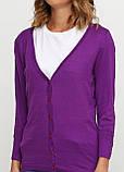 Женская кофта Miss Moda  однотонная фиолетовая,XS, фото 3