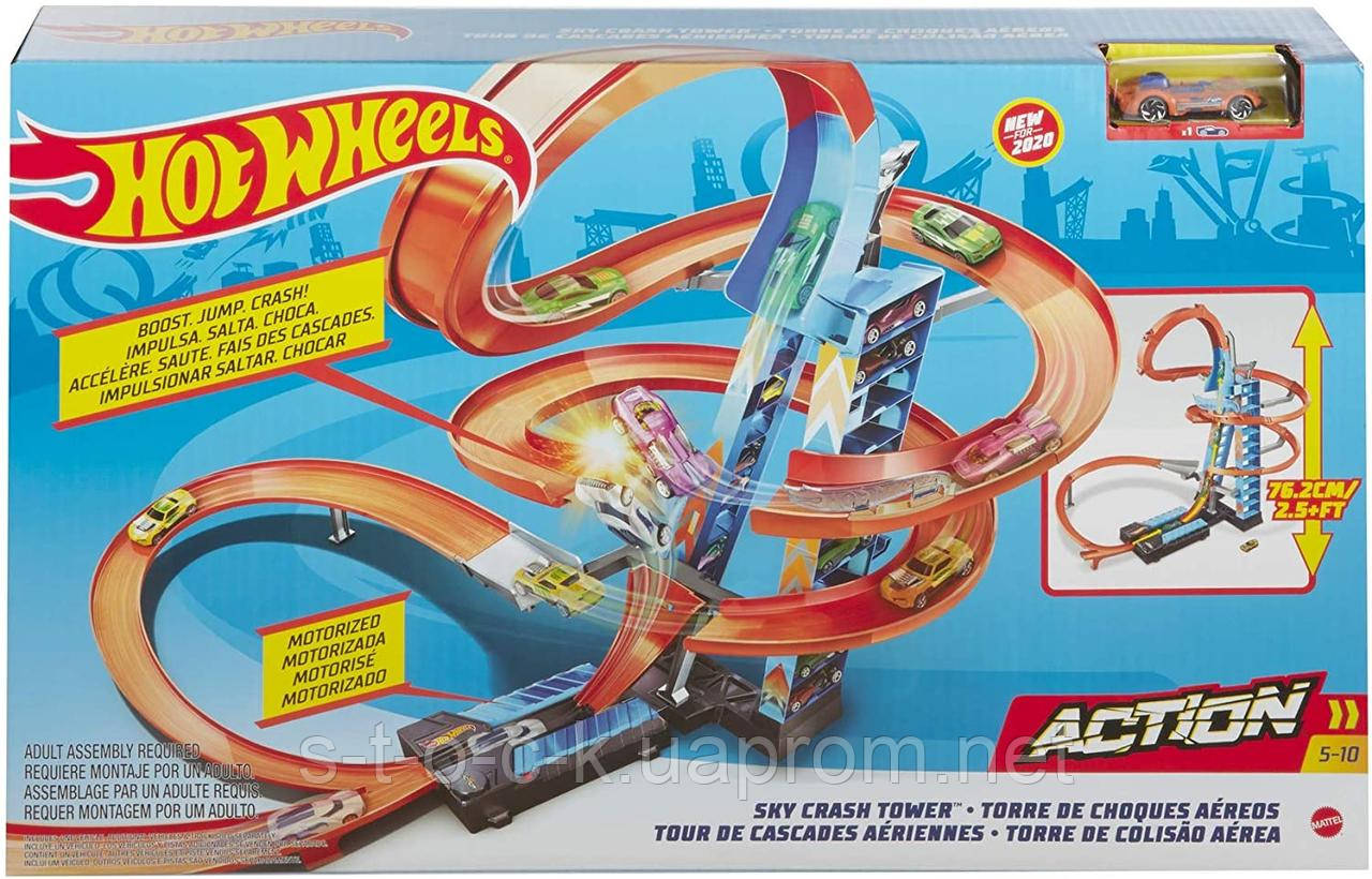 Трек Hot Wheels Падение с башни GJM76