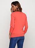 Женская кофта Miss Moda  однотонная коралловая,XS, фото 2
