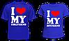 """Парные футболки """"I love my ..."""""""