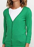 Жіноча кофта Miss Moda однотонна зелена,S, фото 3