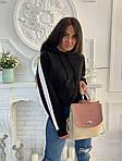 Женский рюкзак, экокожа PU (розовый), фото 4