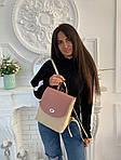 Женский рюкзак, экокожа PU (розовый), фото 6