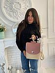 Женский рюкзак, экокожа PU (розовый), фото 3