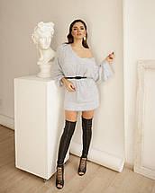 Платье-свитер женское AniTi 069, светло-серый, фото 2