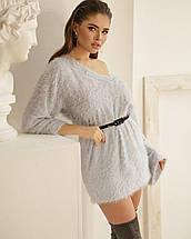 Платье-свитер женское AniTi 069, светло-серый, фото 3