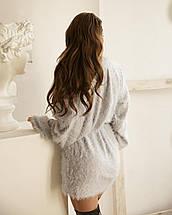 Сукня-светр жіночий AniTi 069, світло-сірий, фото 3