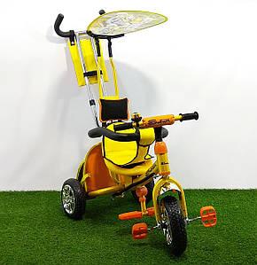 Трехколесный велосипед детский SAFARI Желто-оранжевый(Тигр)