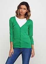 Жіноча кофта Miss Moda однотонна зелена,XS
