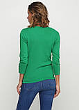 Женская кофта Miss Moda  однотонная зелёная,XS, фото 2
