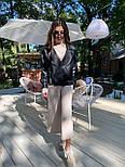Жіноча куртка шкіряна оверсайз зі спущеним рукавом 7101327, фото 3