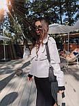 Жіноча куртка шкіряна оверсайз зі спущеним рукавом 7101327, фото 8