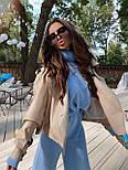 Жіноча куртка шкіряна оверсайз зі спущеним рукавом 7101327, фото 9