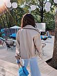 Жіноча куртка шкіряна оверсайз зі спущеним рукавом 7101327, фото 6