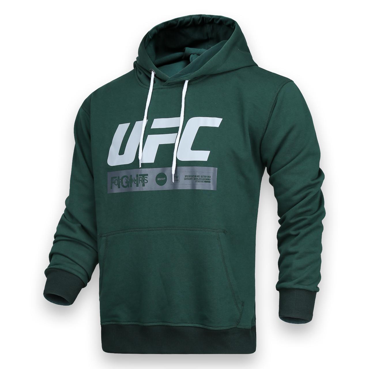 Худи т зеленый UFC FIGHT с лого Т-2 DGRN XL(Р) 20-471-201