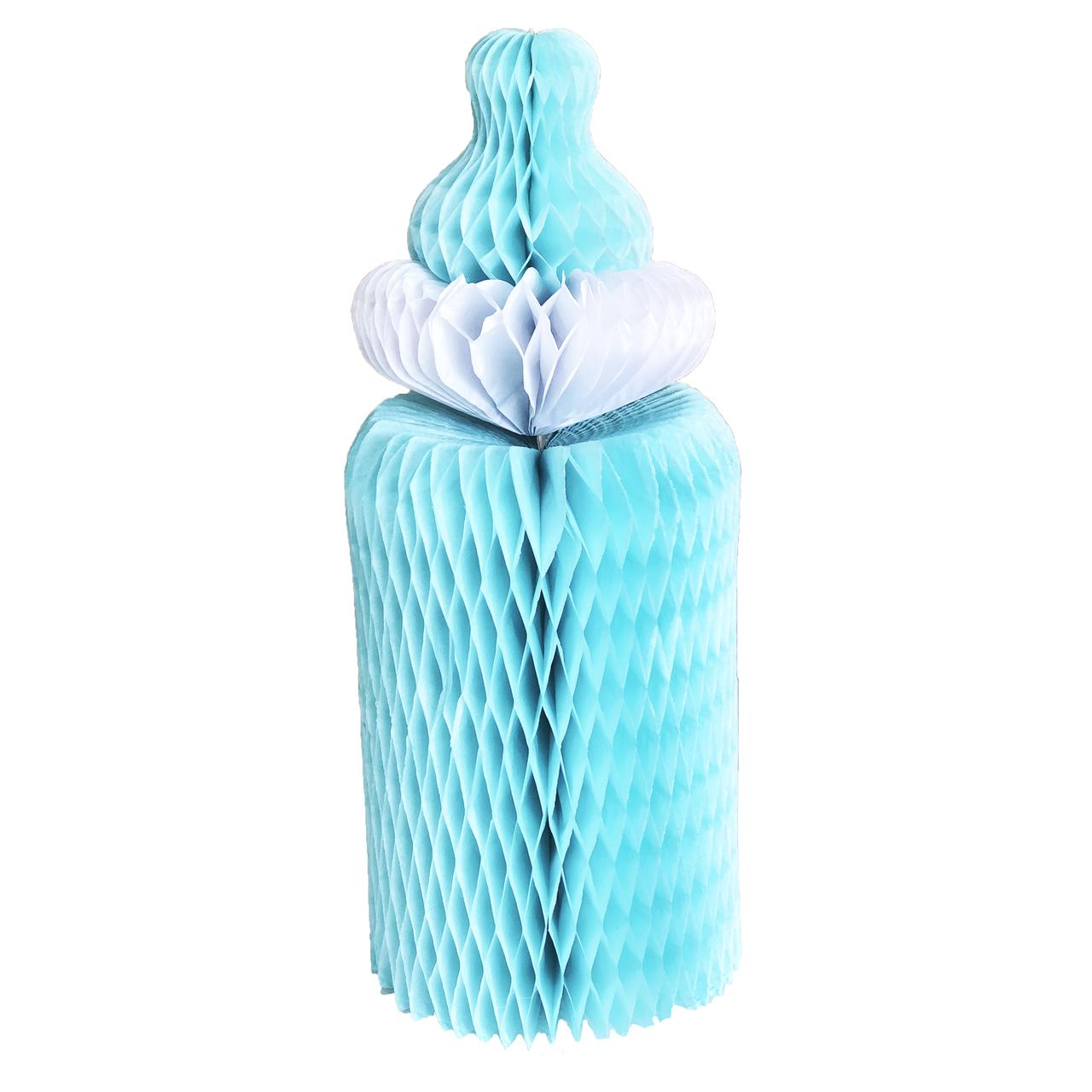 Паперові стільники з тишею Дитяча пляшечка, блакитна