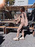 Женский вельветовый брючный костюм двойка со свободной рубашкой 71101118, фото 6